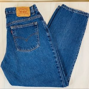 Vintage Levi's 550 Hi Waisted Fit Mom Jeans Wedgie